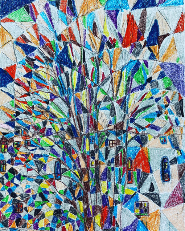 A Tree (imitating stained glass)